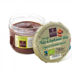 Pure chocoladepasta hazelnoten BIO 350g - BOVETTI