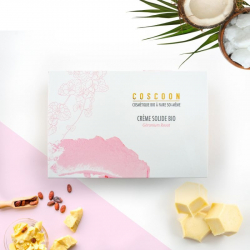 Coscoon - Doos Dhz Vaste Crème Bio. Géranium Rosat parfum.