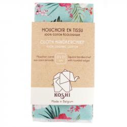 Koshi - Mouchoir en Tissu Écologique - Fleurs Paradis
