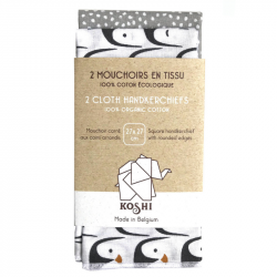 Koshi - Duo de Mouchoirs en Tissu Écologique - Pingouin