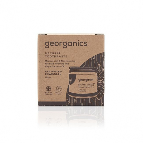Georganics - Mineral-rich Toothpaste Activated Charcoal 60ml