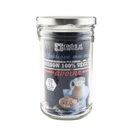 Radis & Capucine - Glazen pot 1L Dhz Plantaardige drank met haver + superfood