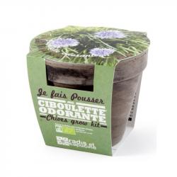 Radis & Capucine - Pot terrecota basalt 13 cm organic chive
