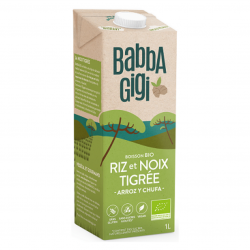 BabbaGigi - Lait Végétal Riz et Noix Tigrée Bio 1L